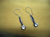 Art Deco Diamante Drops on New Sterling Silver Earwires (Sold)